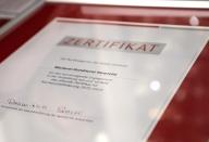 Das Zertifikat der Bundesagentur für Arbeit.