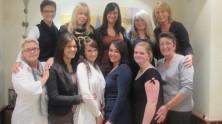 Die Ausbilderinnen und Ihre Azubis aus allen Fachgeschäften bei einem Treffen am Freitag, den 14. Oktober 2011.