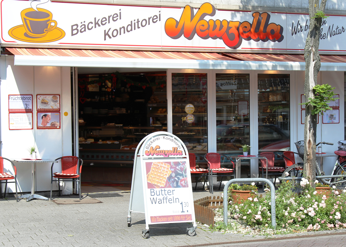 Das Bäckerei Newzella Fachgeschäft und Café in Pulheim