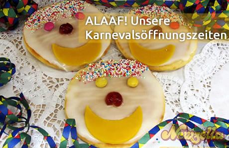 Öffnungszeiten Karneval Bäckerei Newzella