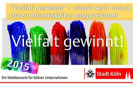 Vielfalt gewinnt! Auszeichnung 2015